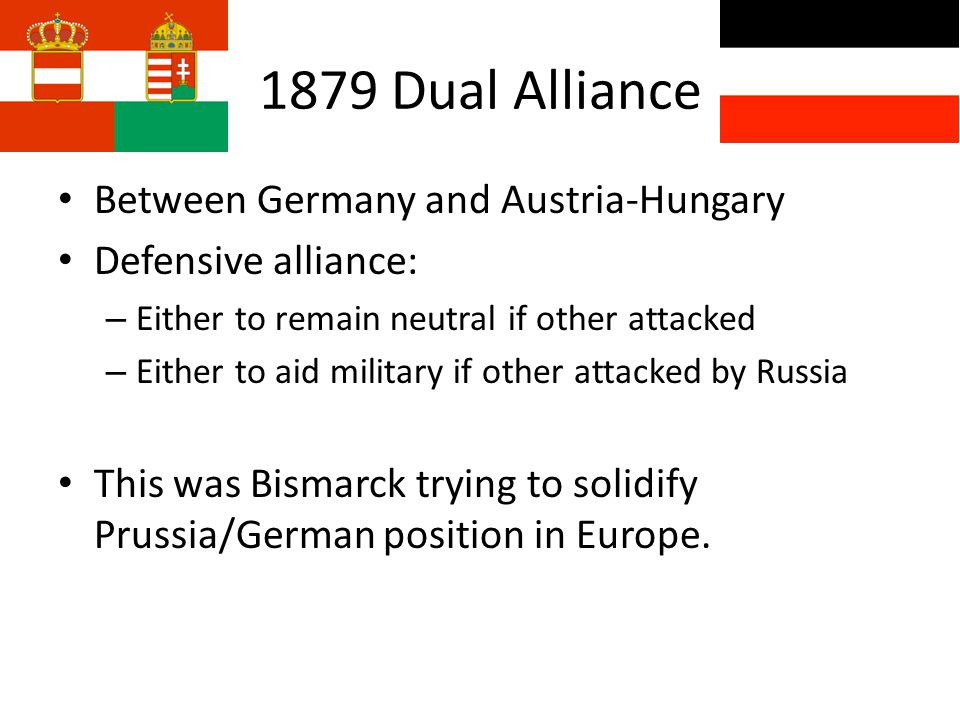 1879 Dual Alliance Between Germany and Austria-Hungary