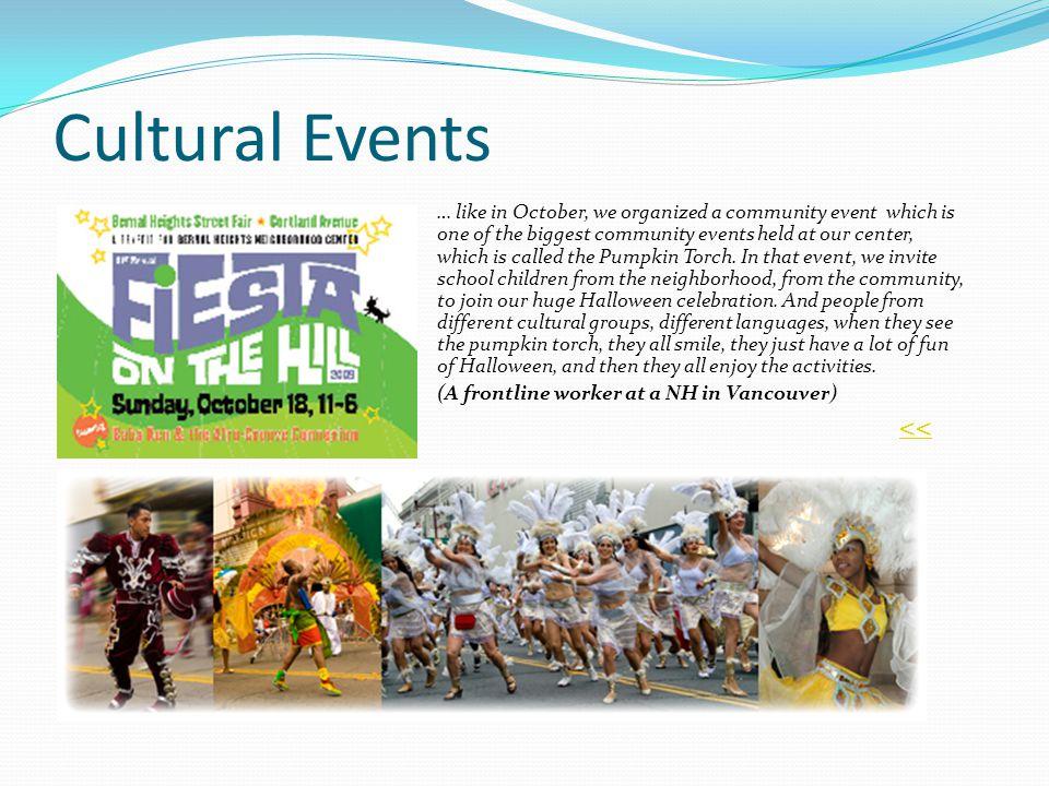Cultural Events <<