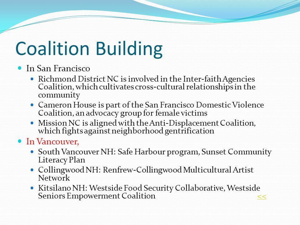 Coalition Building In San Francisco In Vancouver,