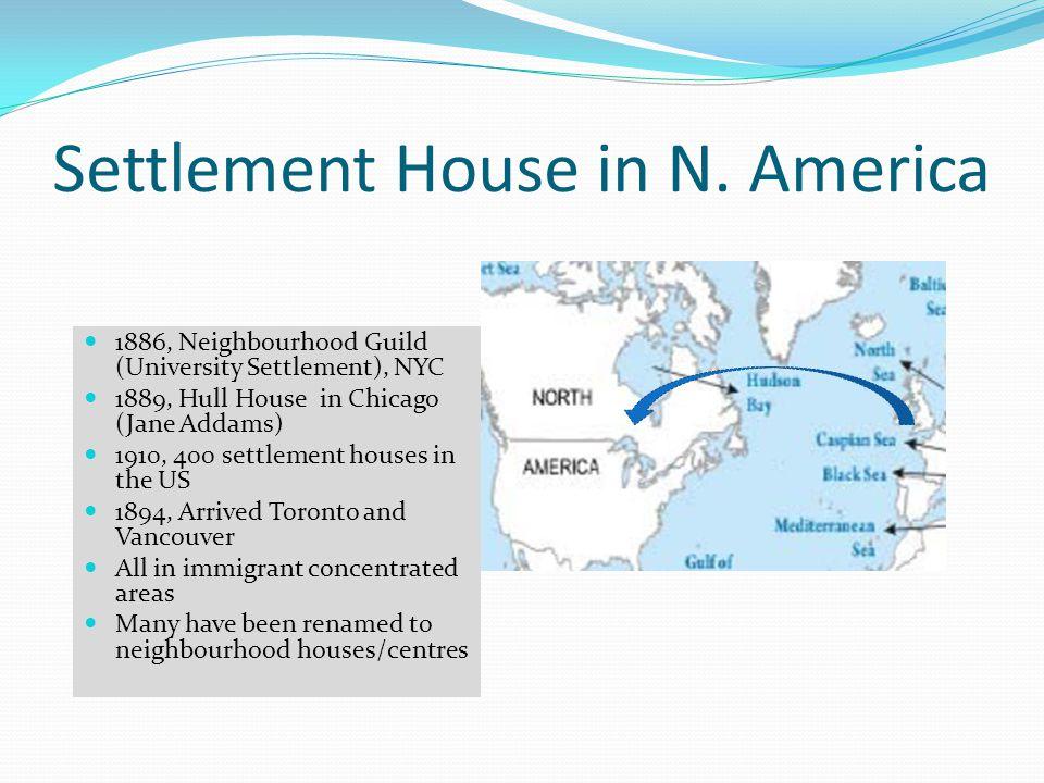 Settlement House in N. America