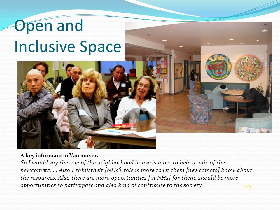 Open and Inclusive Space