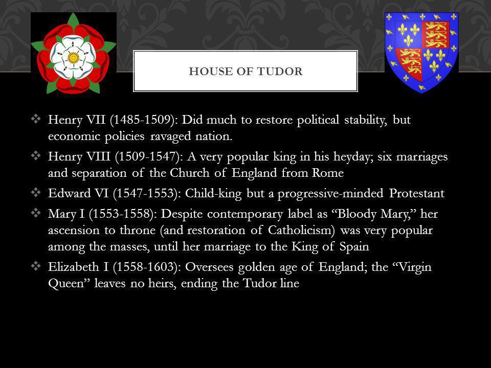 Edward VI (1547-1553): Child-king but a progressive-minded Protestant