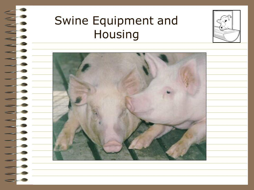 Swine Equipment and Housing