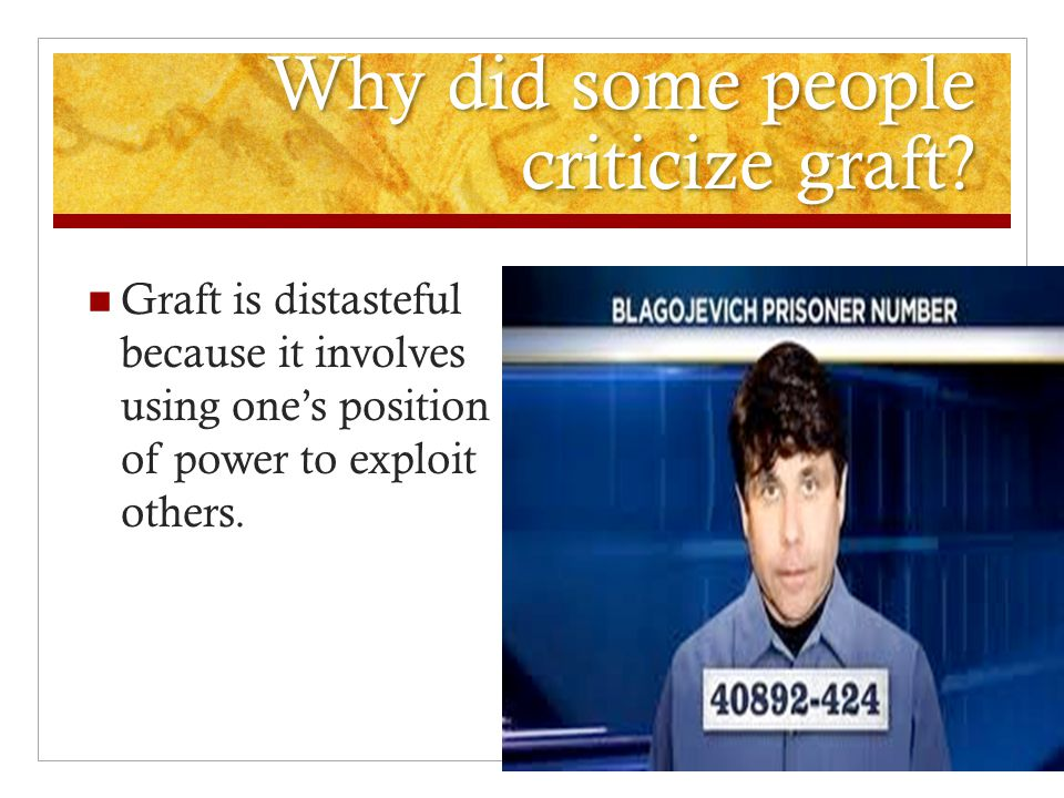 Why did some people criticize graft