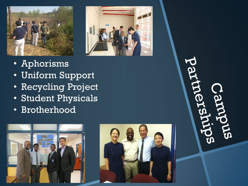 Campus Partnerships Aphorisms Uniform Support Recycling Project