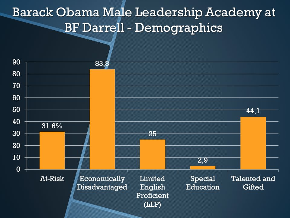 Barack Obama Male Leadership Academy at BF Darrell - Demographics