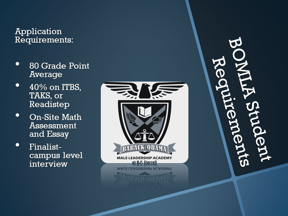 BOMLA Student Requirements