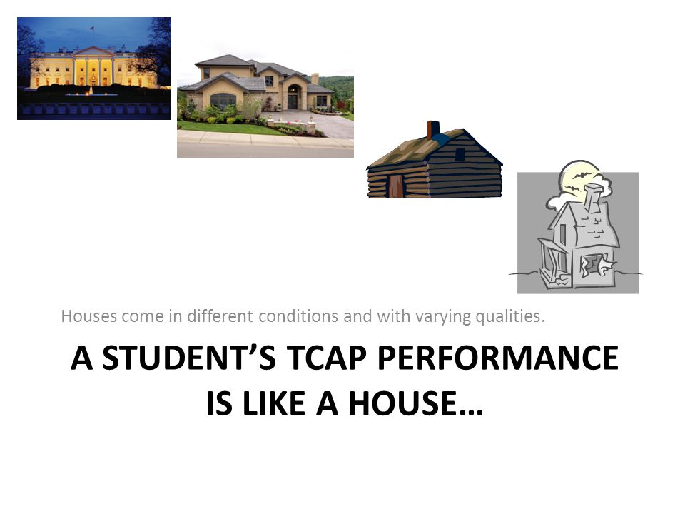 A student's TCAP Performance is like a house…