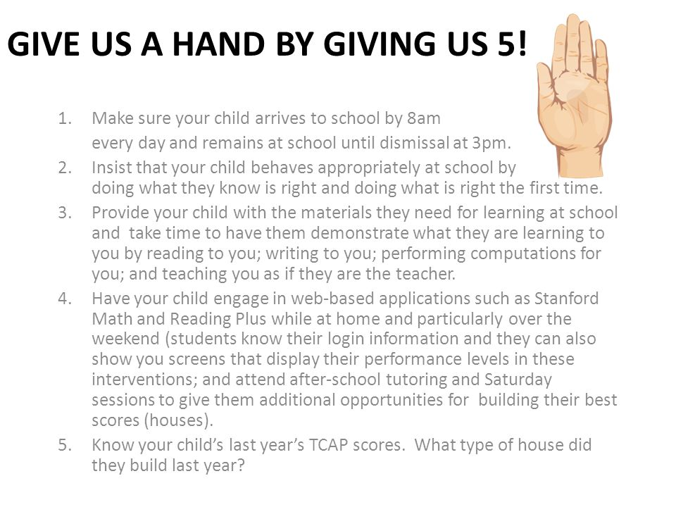 Give us a hand by Giving us 5!