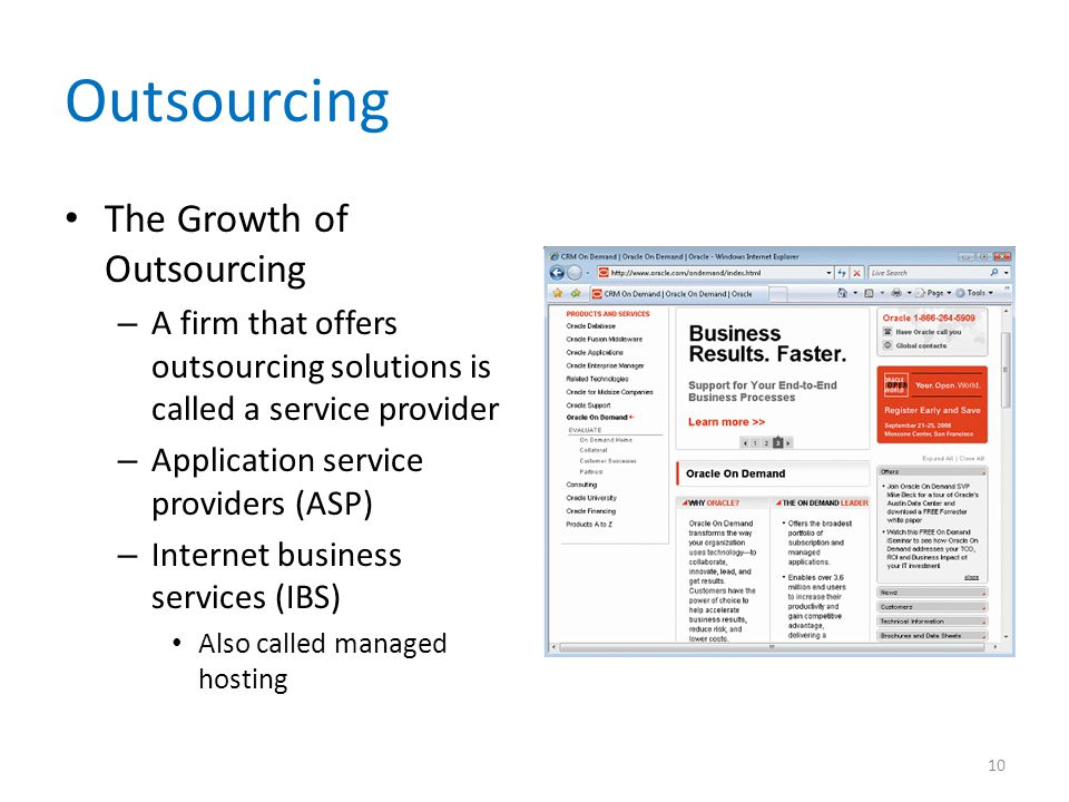 Outsourcing The Growth of Outsourcing