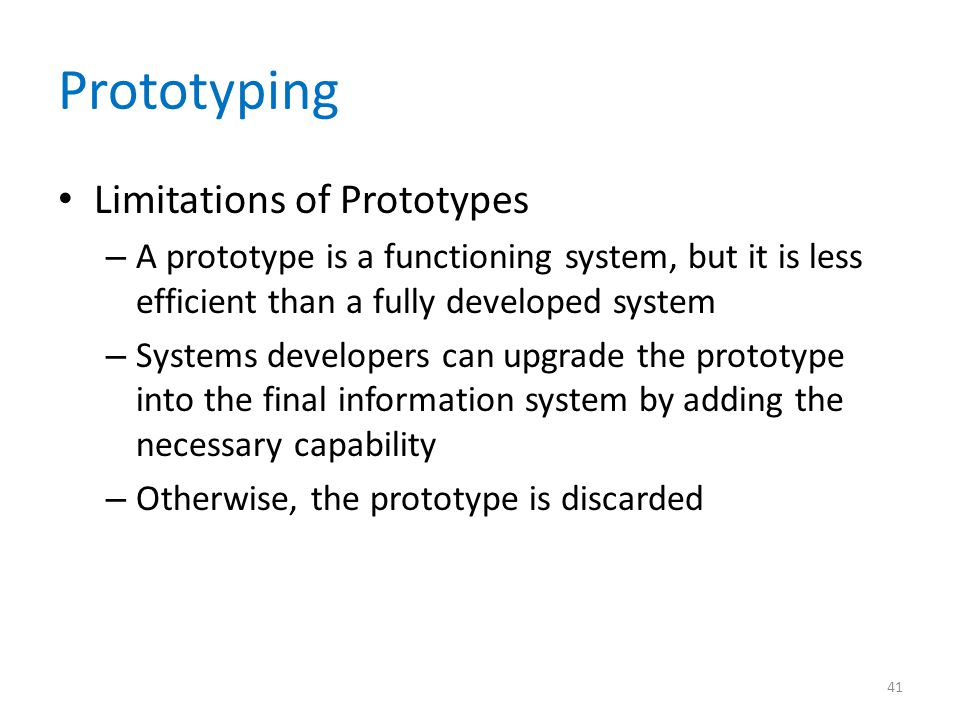 Prototyping Limitations of Prototypes