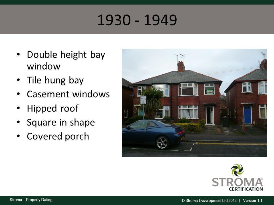 1930 - 1949 Double height bay window Tile hung bay Casement windows