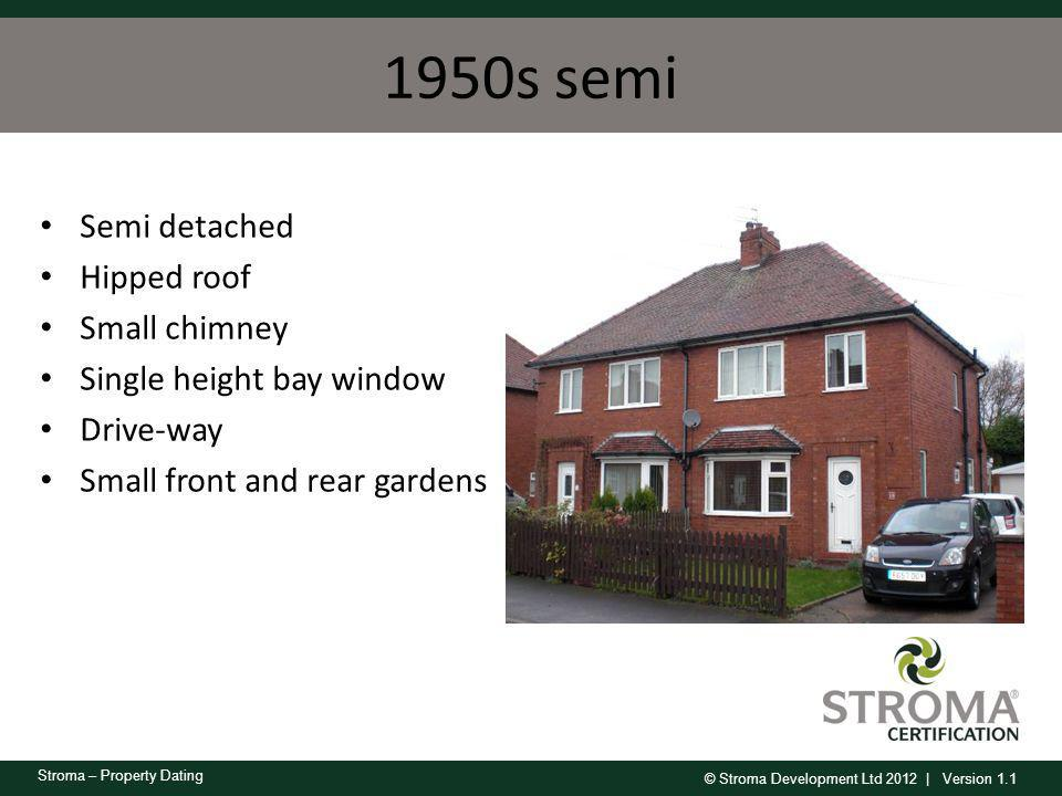 1950s semi Semi detached Hipped roof Small chimney