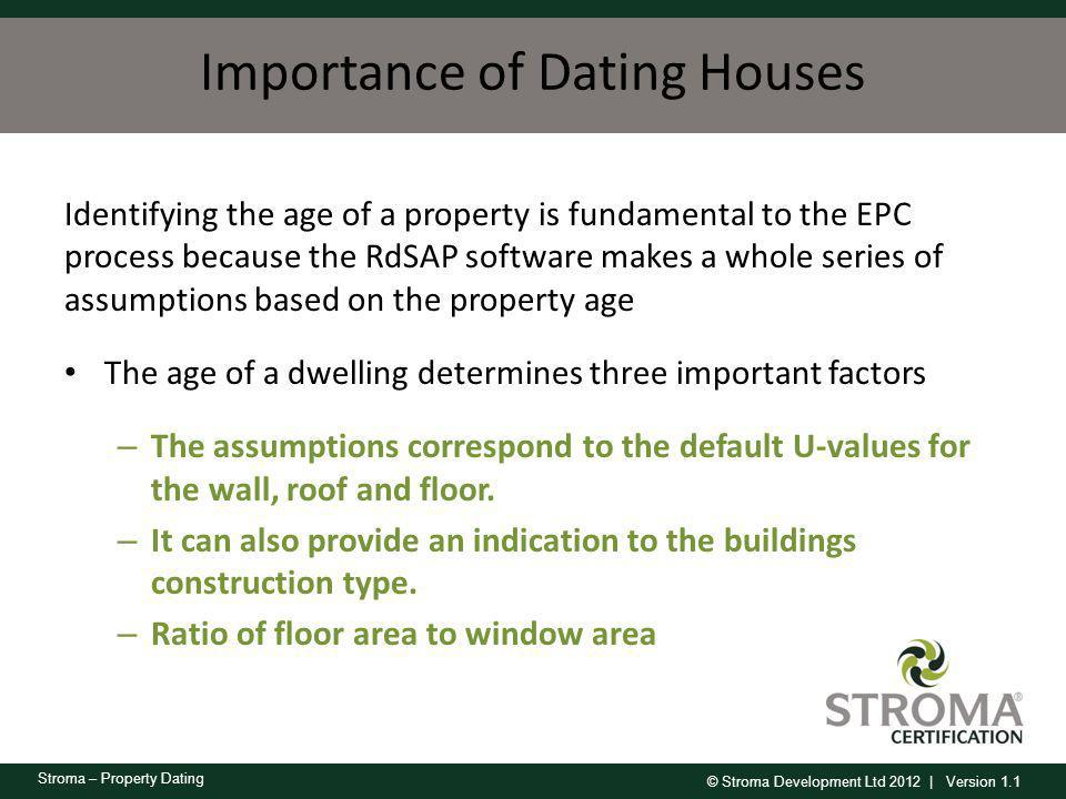 Importance of Dating Houses