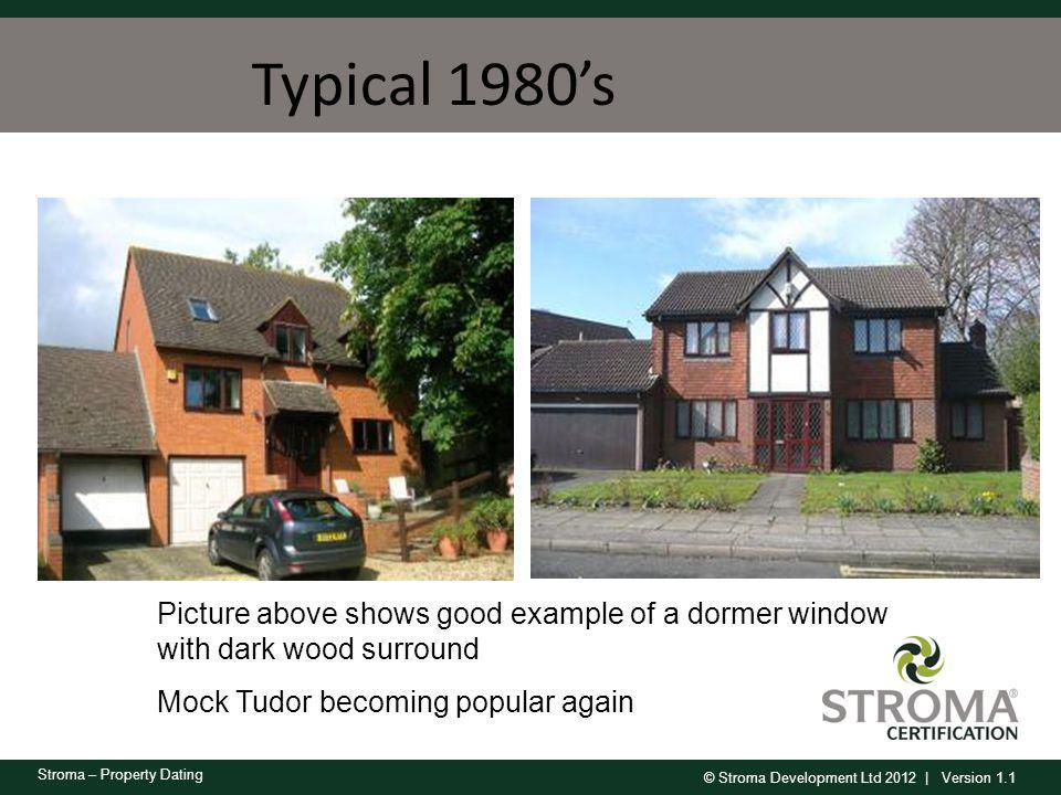 Typical 1980's Picture above shows good example of a dormer window with dark wood surround.