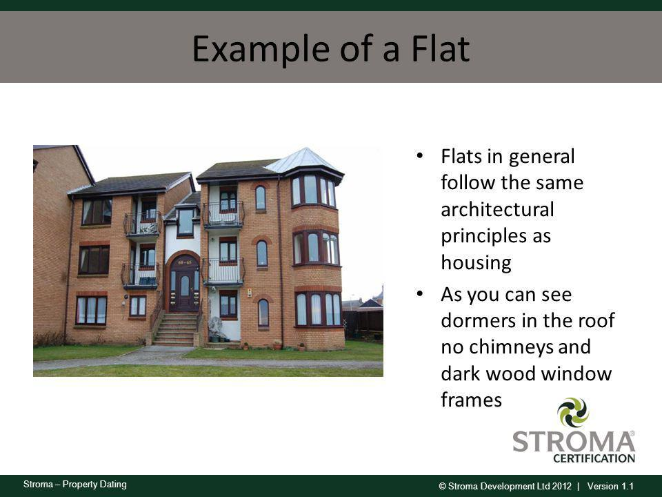 Example of a Flat Flats in general follow the same architectural principles as housing.