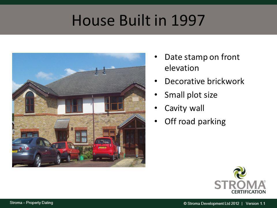 House Built in 1997 Date stamp on front elevation Decorative brickwork