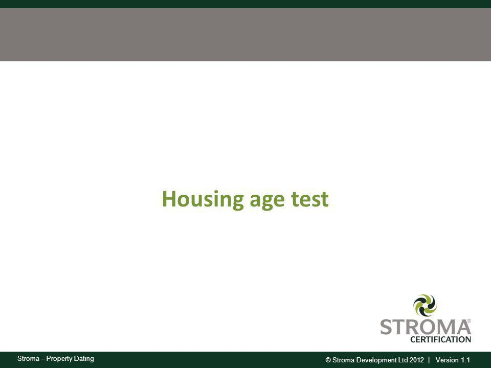 Housing age test
