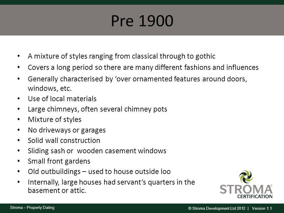 Pre 1900 A mixture of styles ranging from classical through to gothic