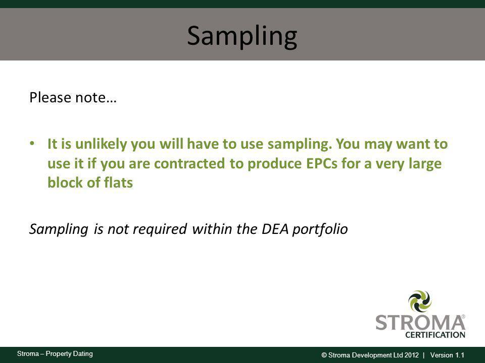 Sampling Please note…