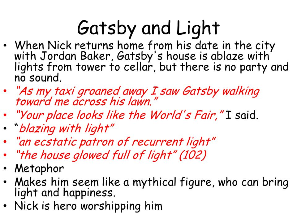 Gatsby and Light
