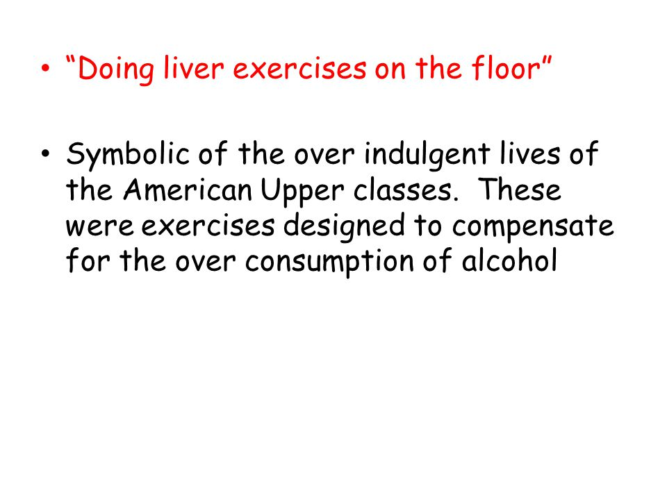 Doing liver exercises on the floor