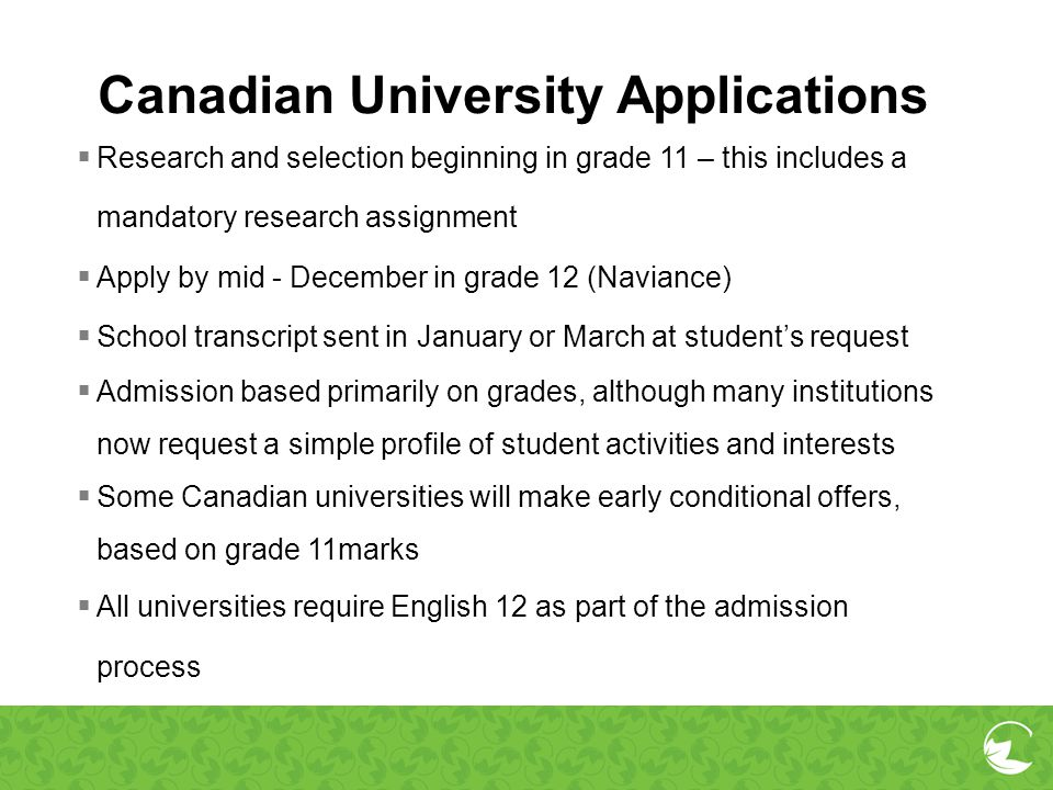 Canadian University Applications