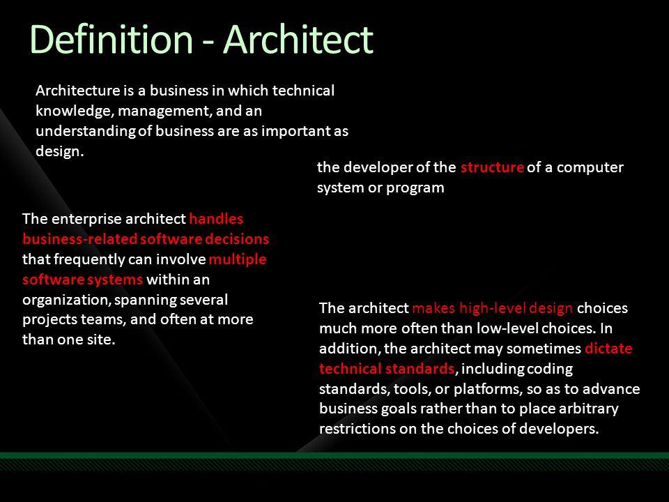 Definition - Architect