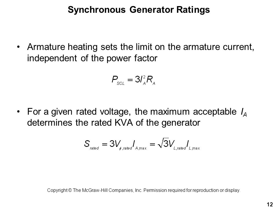 Synchronous Generator Ratings