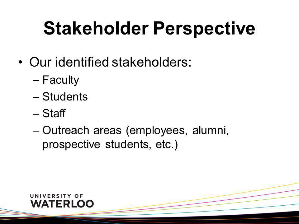 Stakeholder Perspective
