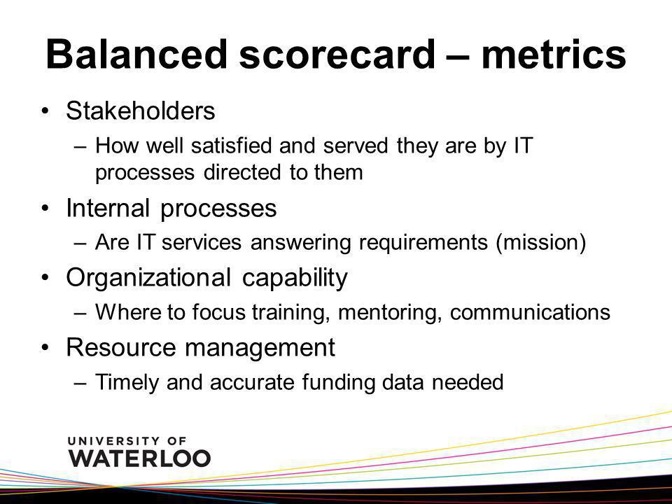 Balanced scorecard – metrics