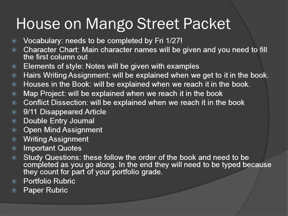Literary Analysis Essay House On Mango Street