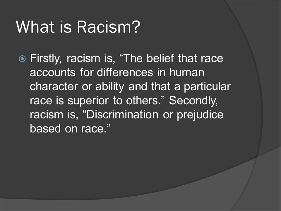 What is Racism