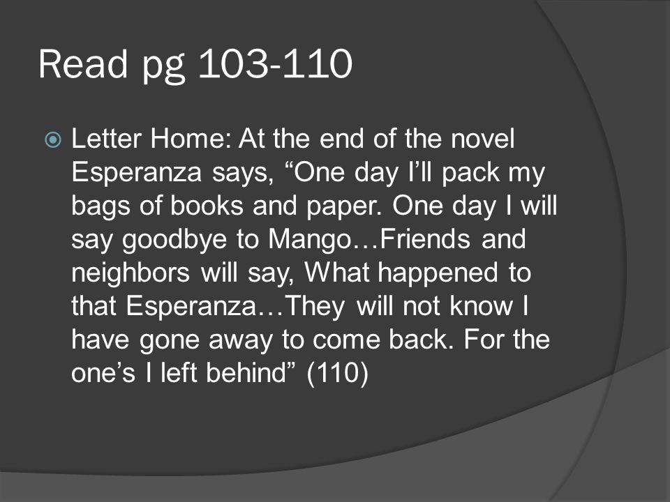 Read pg 103-110