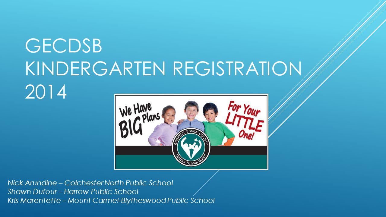 GECDSB Kindergarten Registration 2014