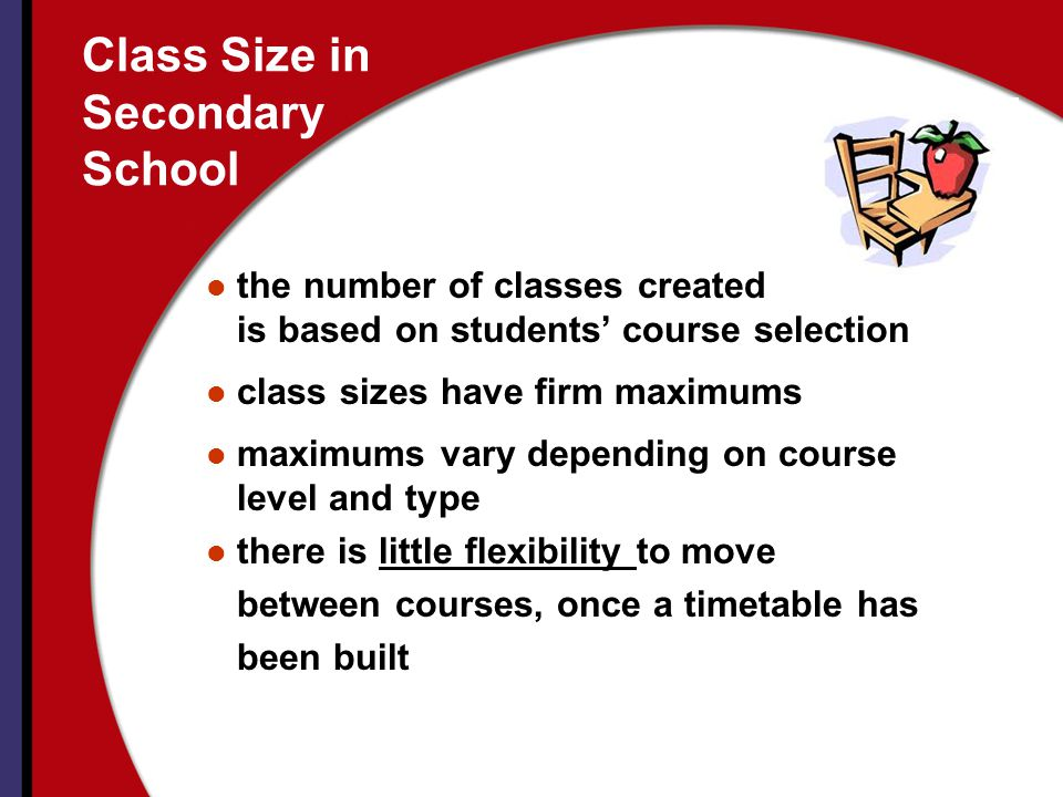 Class Size in Secondary School