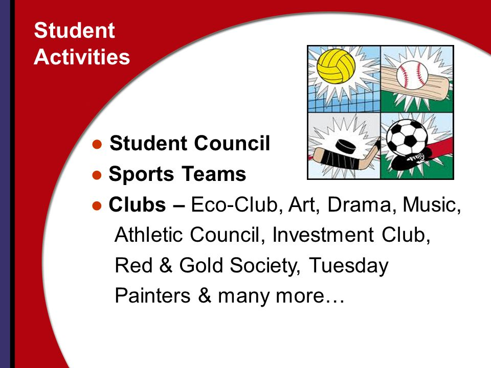 Student Activities Student Council Sports Teams