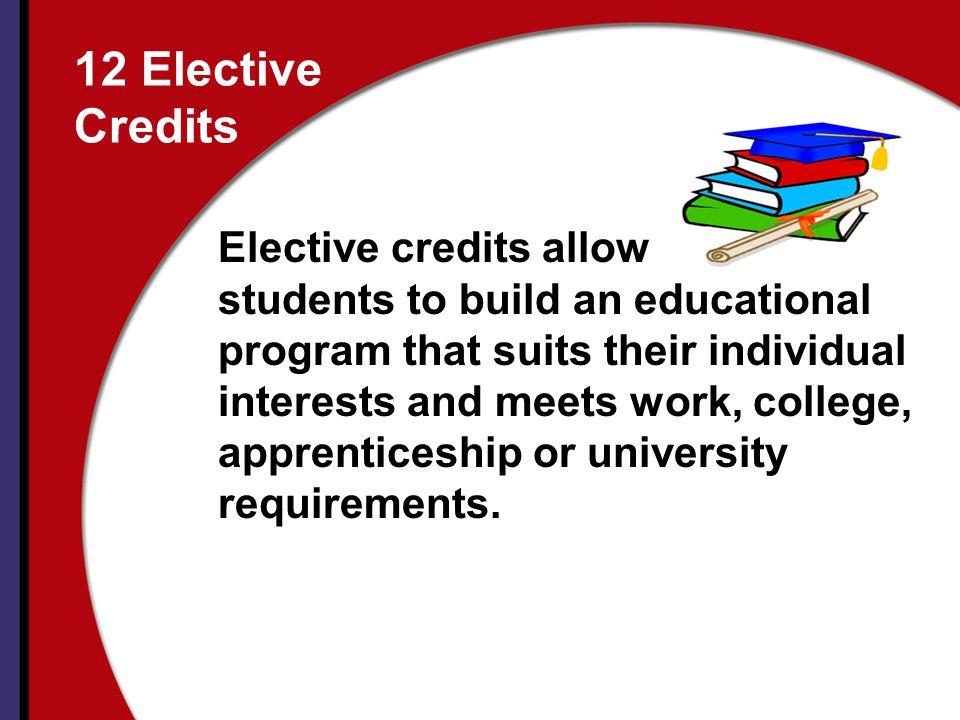 12 Elective Credits