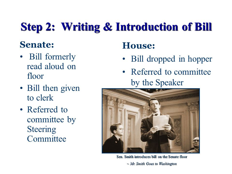 Step 2: Writing & Introduction of Bill