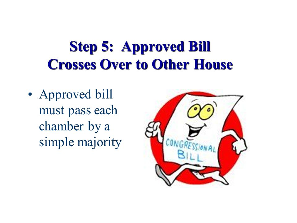 Step 5: Approved Bill Crosses Over to Other House