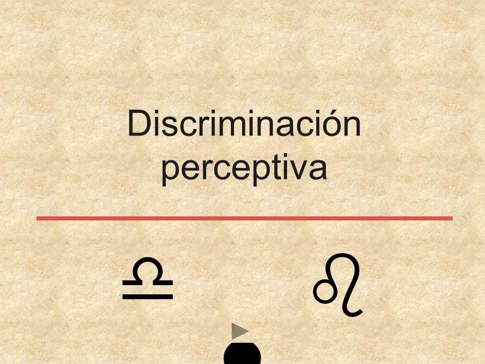 Discriminación perceptiva