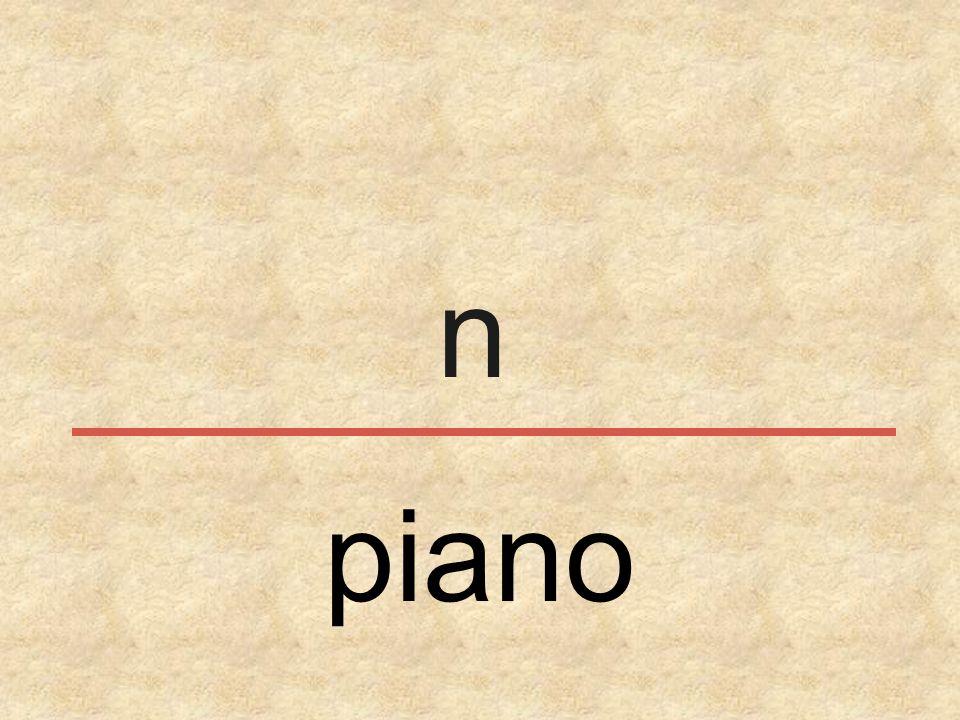 n piano