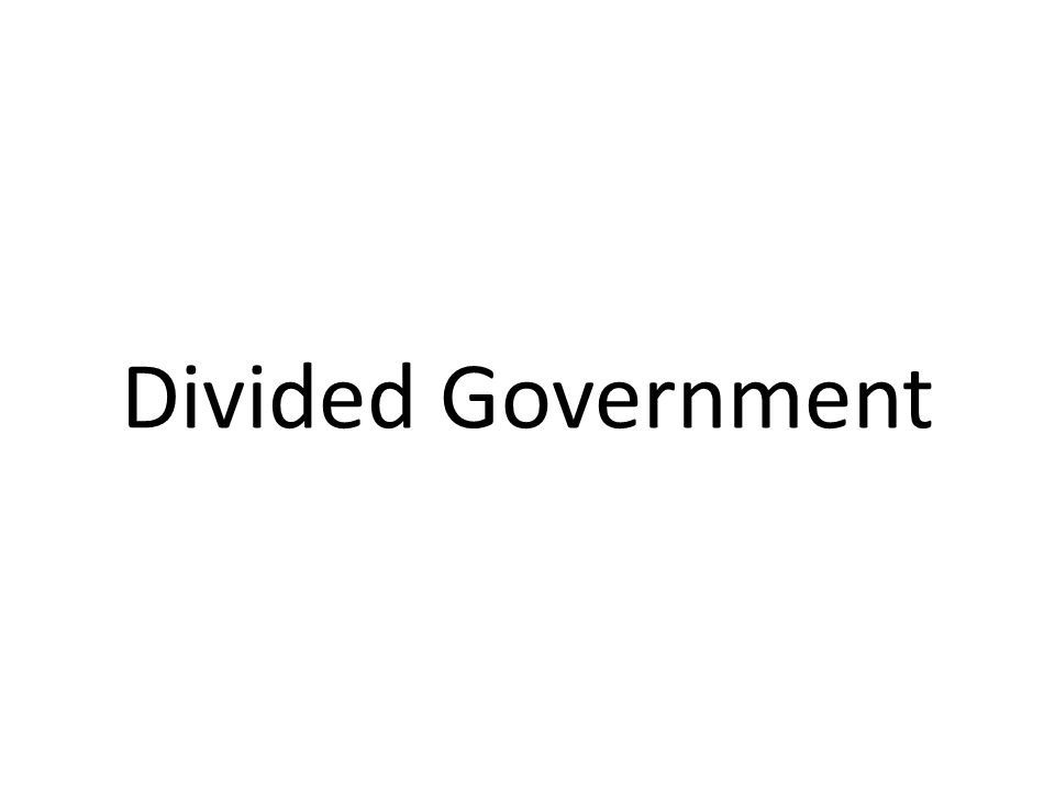 Divided Government
