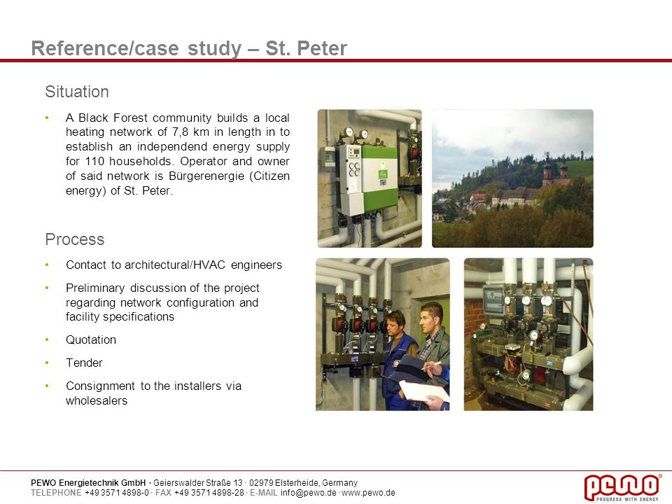 Reference/case study – St. Peter