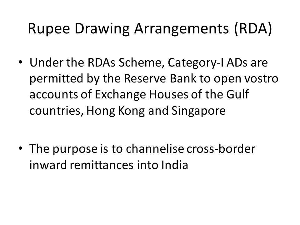 Rupee Drawing Arrangements (RDA)
