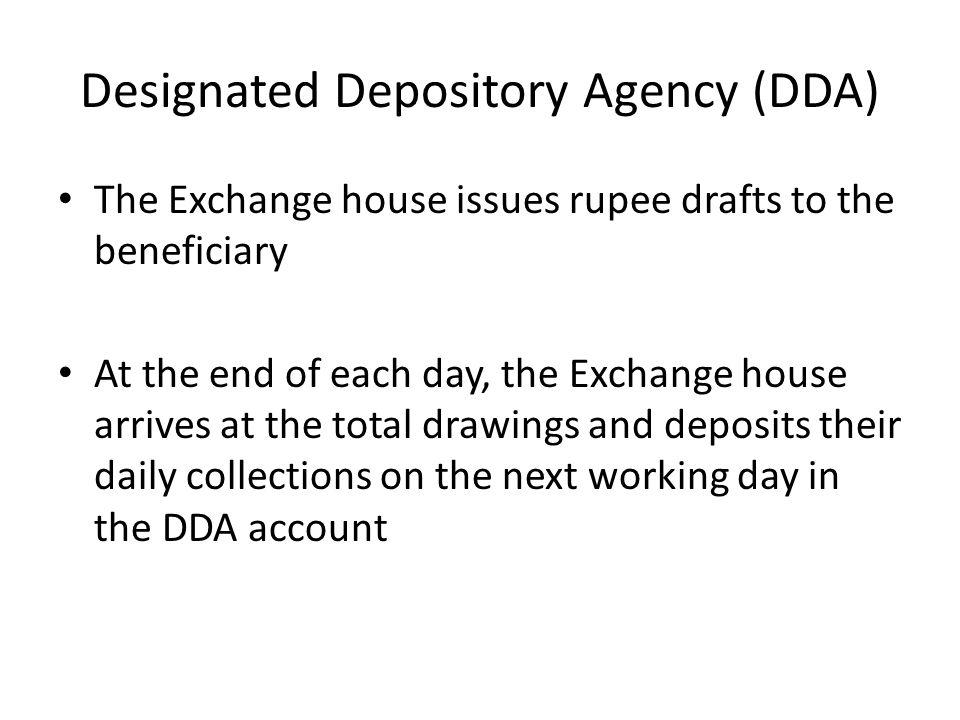 Designated Depository Agency (DDA)