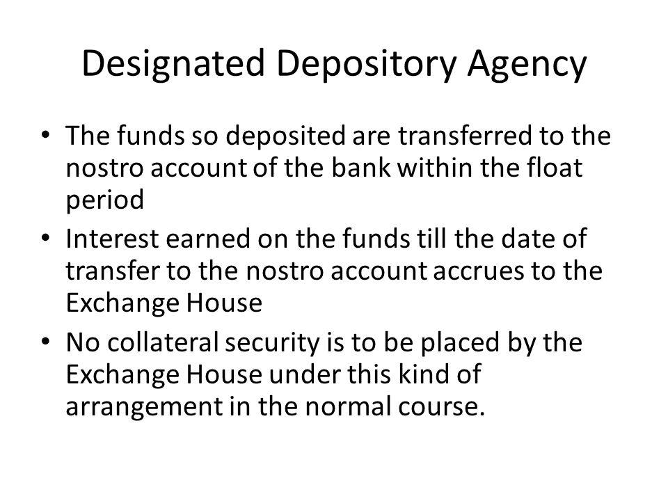 Designated Depository Agency