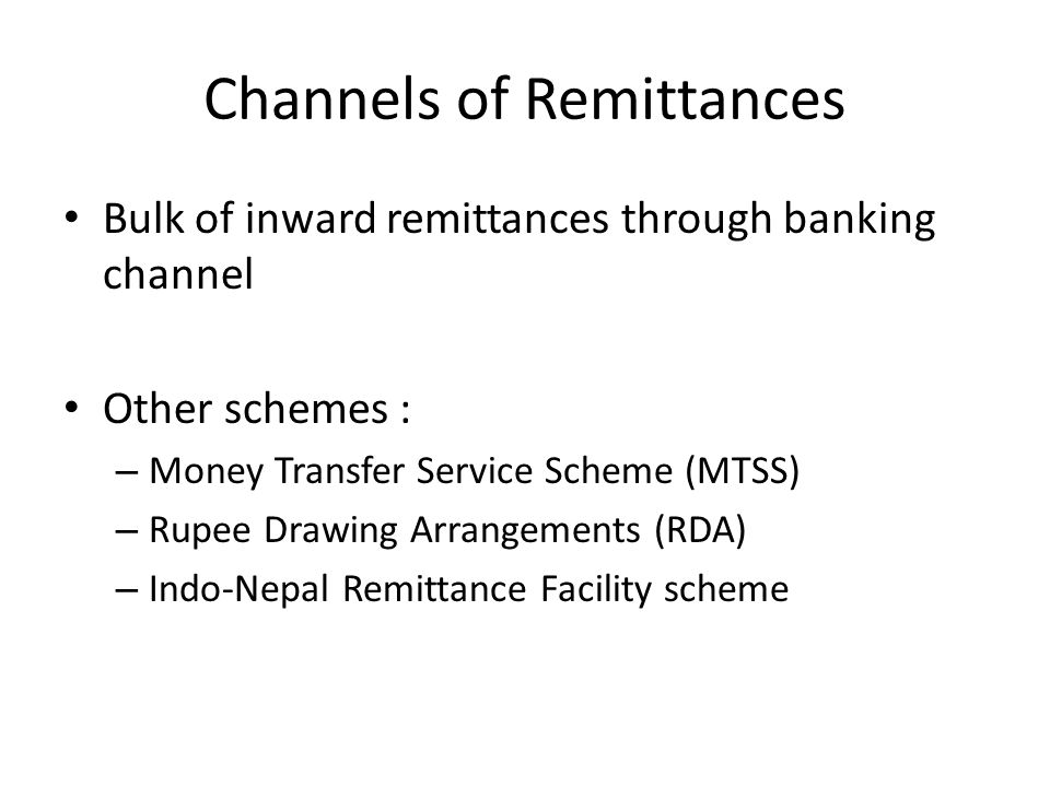 Channels of Remittances