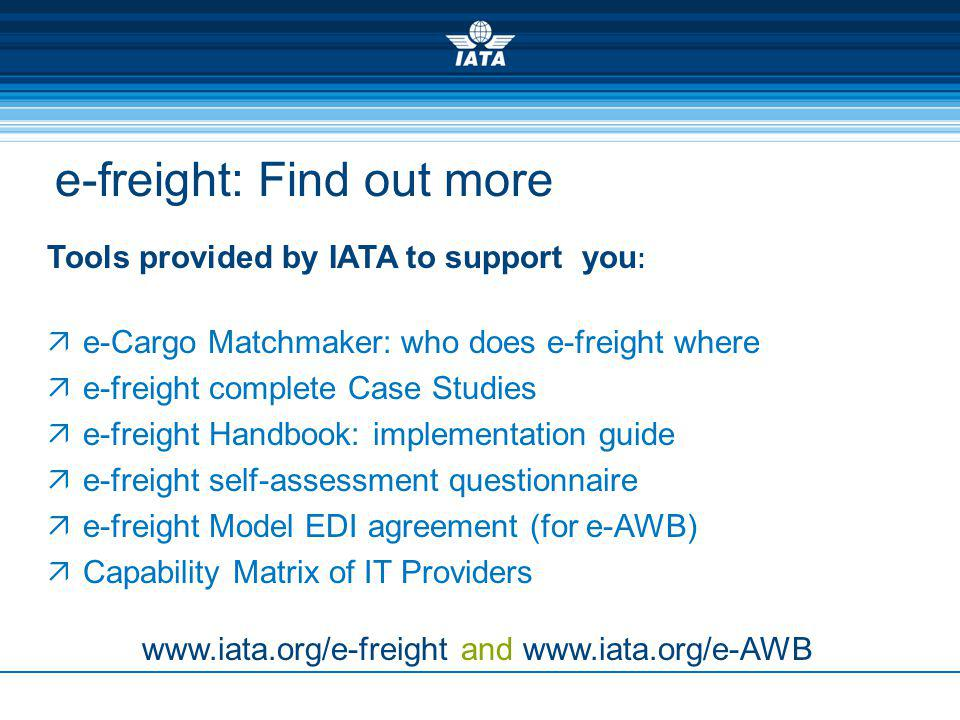 e-freight: Find out more