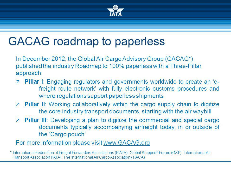GACAG roadmap to paperless